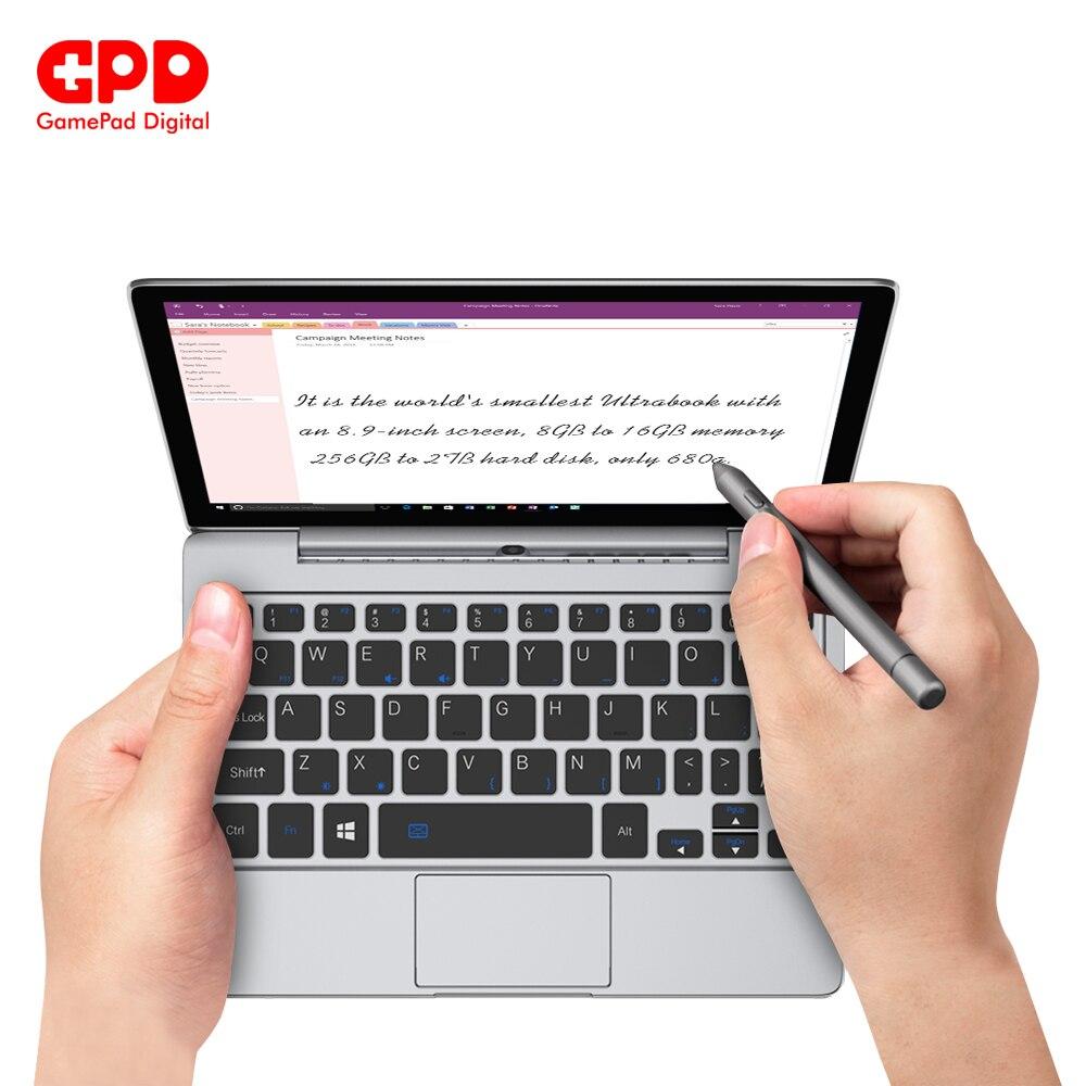 Original  GPD P2 Max 8.9 Inch Touch Screen Inter Core Celeron 3965y 8GB 256GB Mini PC Pocket Laptop Notebook Windows 10 System