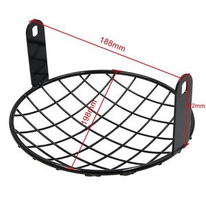 Image 4 - uxcell 7.8inch Black Metal Headlight Mesh Grill Motorcycle Headlamp Grid Cover for Harley