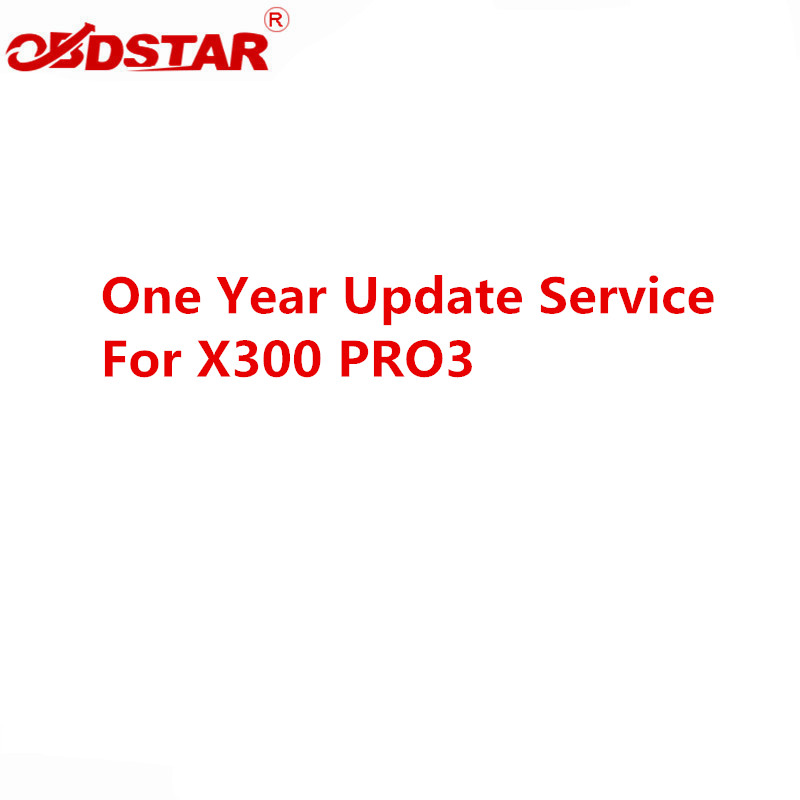One Year Update Service For OBDSTAR X300M/X300PRO3/X300 DP PLUS