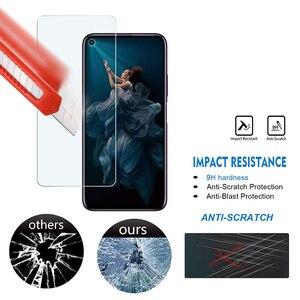Image 3 - 5 adet temperli cam Huawei onur 20 ekran koruyucu 9H 2.5D telefonu koruyucu cam için Huawei onur 20 Pro cam