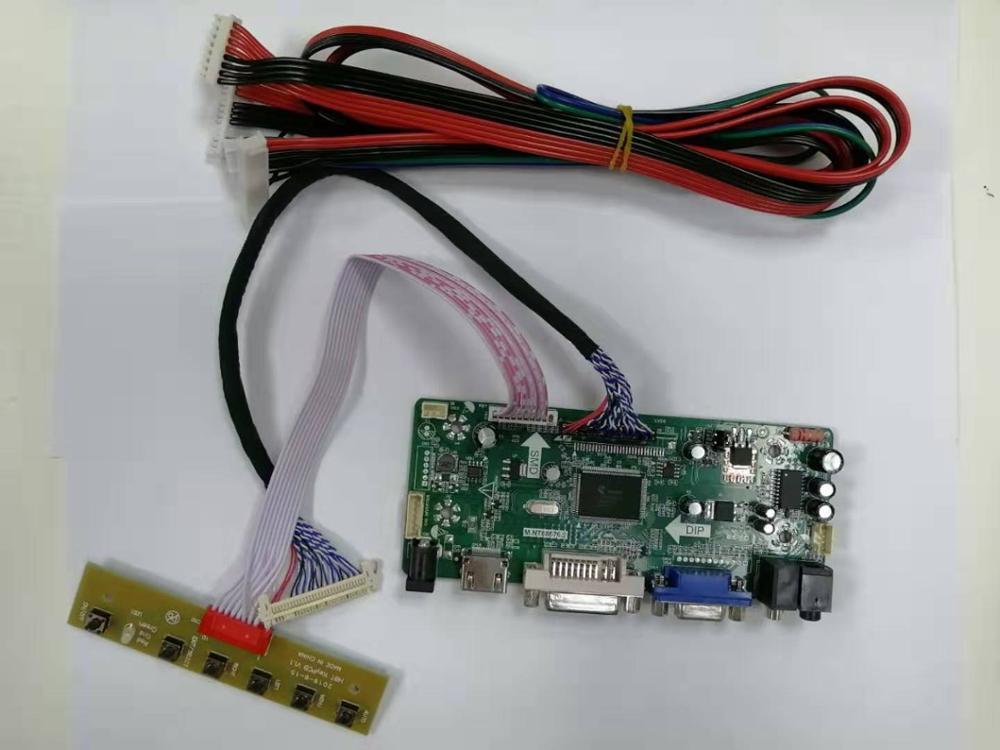 LCD Controller Driver Board  Kit For LM240WU2-SLB4   LM240WU2(SL)(B4)  1920X1200  HDMI+DVI+VGA LCD LED Screen Controller Board