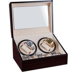 Коробка для хранения намотки часов, держатель для сбора ювелирных изделий, деревянный 4 + 6, автоматический дисплей с двойной головкой, бесшу...