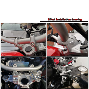 Image 5 - Motorcycle Handlebar Riser 32MM Drag Handle Bar Clamp Extend Adapter FOR BMW R1250GS LC ADV R1250HP R1200 GS LC R1200GS Adventur