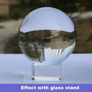 Super Clear K9 Kristall Glas Objektiv Ball 60mm Fotografie Lensball Große Divination Globus 6cm Große Magische Kugel Mit stehen Basis Tasche