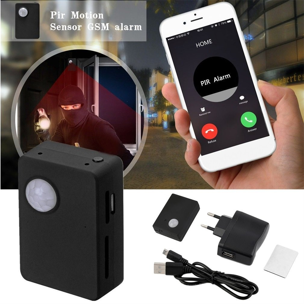 X9009 Wireless Infrared Camera Mini Gsm Pir Alarm GSM Tracker Autodial PIR MMS Listening Device Monitor Alarm System Hot Sale