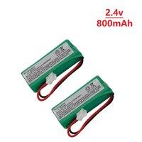 2 stück 2 4 V 800mAh NIMH Akku für VTech BT166342 BT266342 BT183342 BT283342 TL90070 2 4 v batterie|Teile & Zubehör|   -
