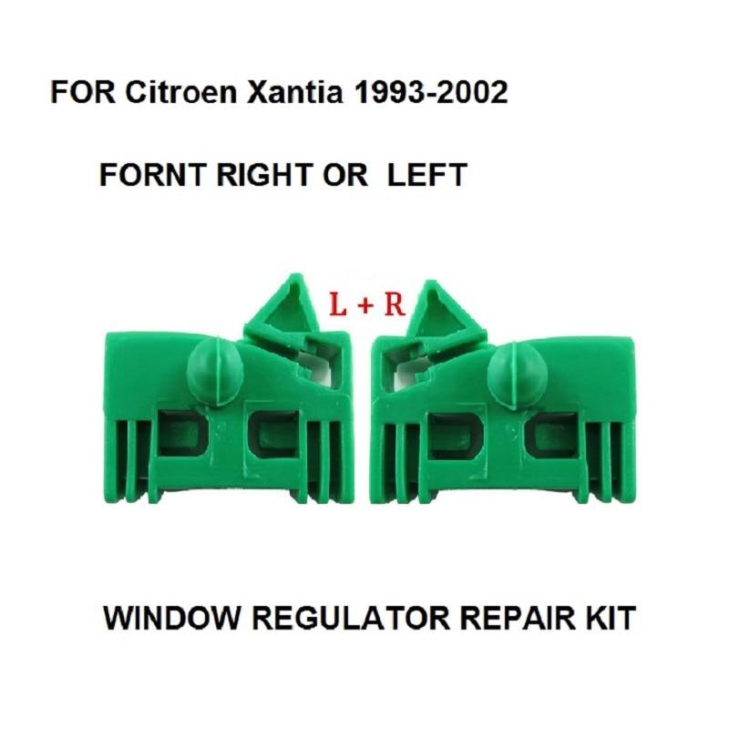 For Citroen Xantia 1993-2002 Window Regulator Repair Clip Kit Front Left + Right Door For Peugeot 306 1997-2002