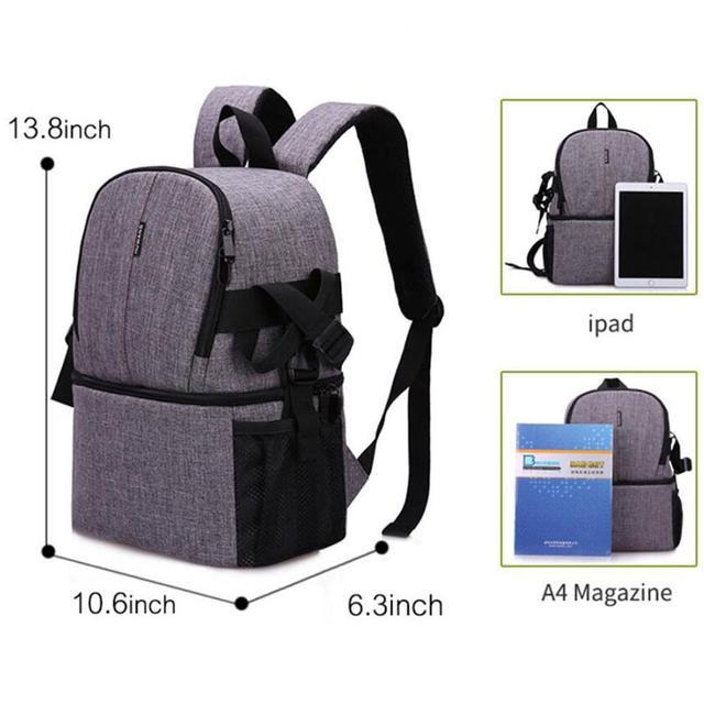 Multi-purpose DSLR Camera Bag Waterproof Photo Camera Bag Shoulder Bag Small DLSR Camera Backpack For Nikon Canon Pentax Sony 6