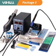 YIHUA 8786D Soldering iron Hot Air Soldering Station DIY Digital Rework Station Phone Repair BGA SMD Soldering Station