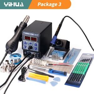 Image 1 - YIHUA 8786D سبيكة لحام محطة لحام الهواء الساخن لتقوم بها بنفسك محطة إعادة العمل الرقمية إصلاح الهاتف بغا محطة لحام مصلحة الارصاد الجوية