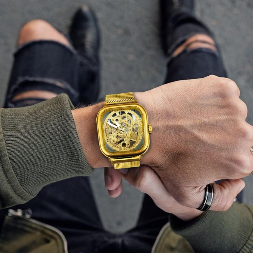 H2161d198f23044658098fa960d311109K FORSINING Top Brand Luxury Unisex Watch Men Auto Mechanical Hollow Dial Magnet Strap Fashion Royal Wristwatch HIP HOP Male Clock