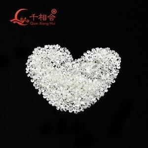 Image 5 - 0.5CT לכל תיק IJ לבן צבע 0.9mm כדי 2.9mm קטן גודל סינטטי moissanite צורה עגולה loose אבן עשה על ידי SIC