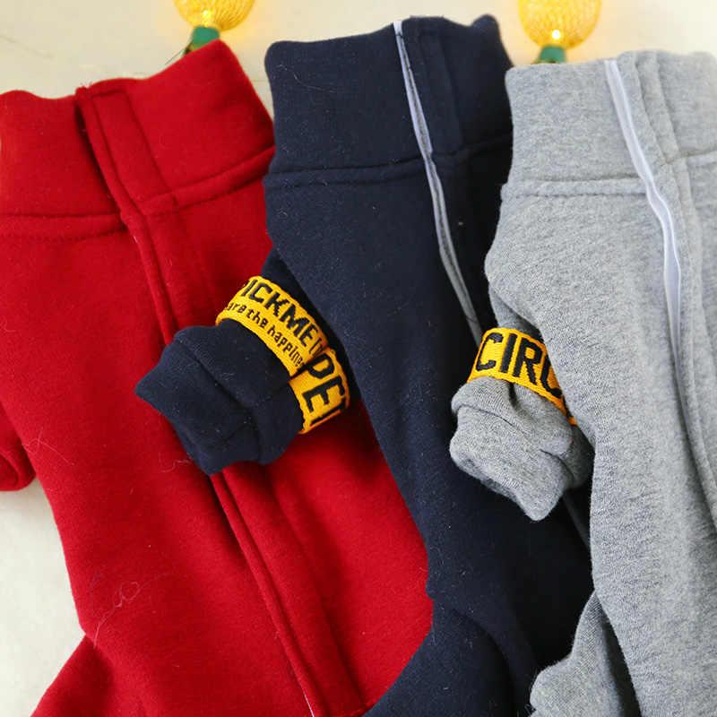 Zimowe kostiumy dla psów jesień ciepły komfort miękki czerwony niebieski szary strój dla szczeniaczka dla małe zwierzę mężczyzna kobieta w pełni zakrywający brzuch