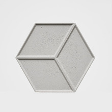 Hexagon Concrete Tray Pallet Mold Concrete Tile Silicone Molds