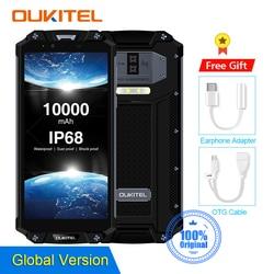OUKITEL WP2 смартфон с 6-дюймовым дисплеем, восьмиядерным процессором MT6750T, ОЗУ 4 Гб, ПЗУ 64 ГБ, 10000 мАч, 18:9
