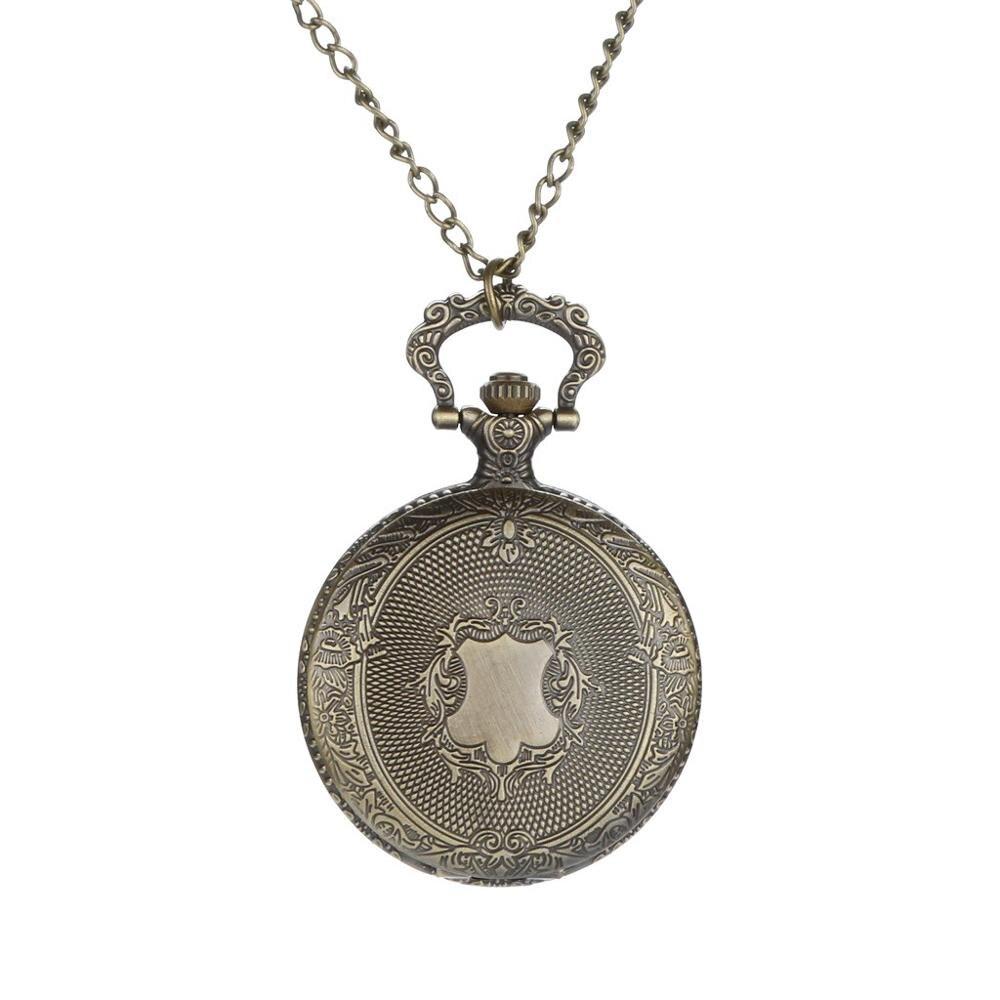 Personalized Pattern Steampunk Vintage Quartz Roman Numerals Pocket Watch Watch Clock Wholesale Relogio De Bolso #4D24