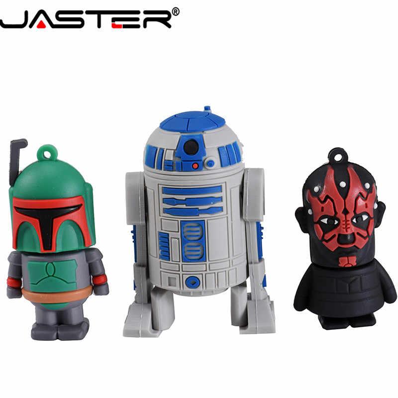 Jaster Usb Flashdisk Star Wars Yoda/Darth Vader Flash Drive 4GB 8 Gb 16GB 32GB 64GB Pen Drive USB 2.0 Hadiah Chiavetta USB CLE USB