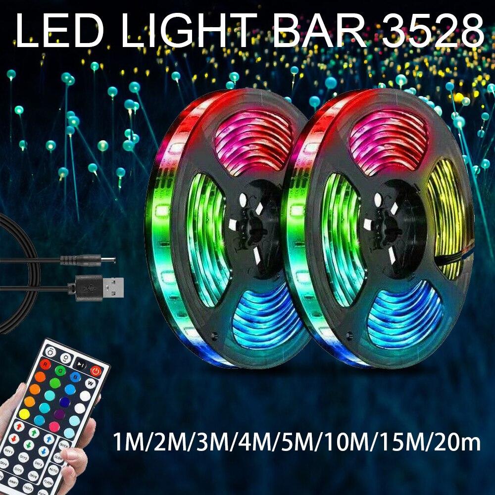 Светодиодная лента 5 м 10 м 3528 Светодиодная лента светильник Светодиодная лента 15 м 20 м rgb светодиодная Диодная лента Bluetooth контроллер адаптер...