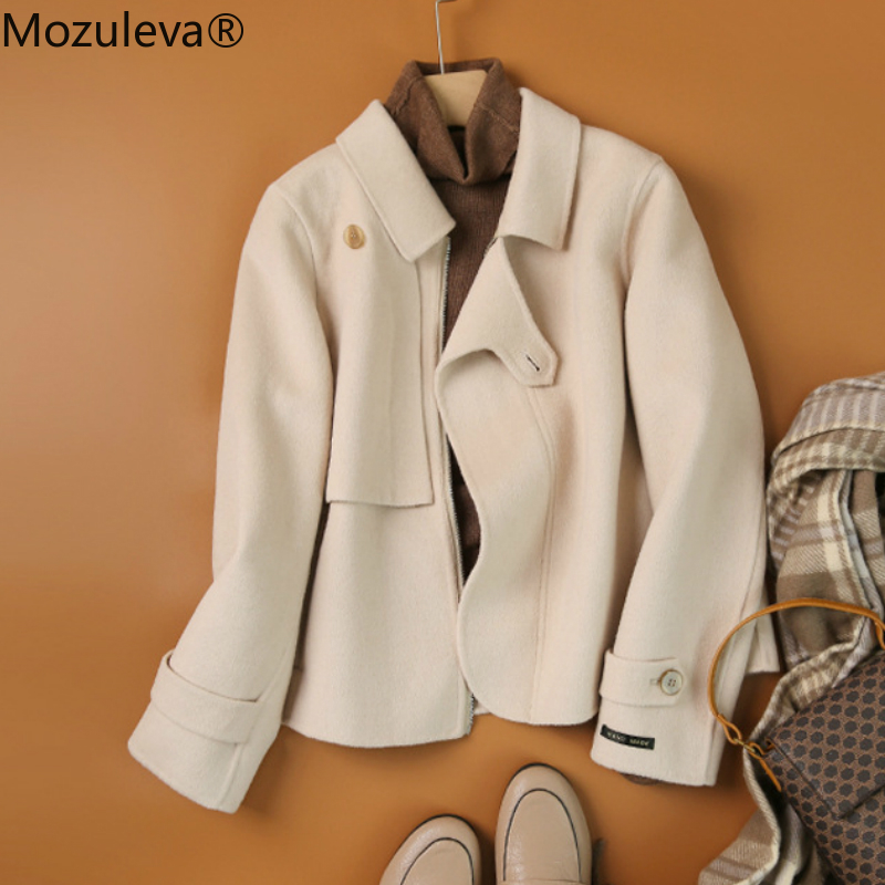 Mozuleva 2020 Handmade Double-Sided Duffle Coat 2020 Autumn and Winter Coat Women's Wool Duffle Coat Women's New Style