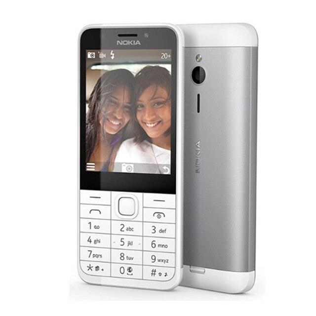 Original Unlocked Nokia 230 GSM 2.8 Inch Dual SIM & Single SIM Card 2MP QWERTY English Keyboard Refurbished Mobile Phone