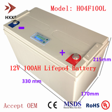 12V100AH Lithium Ion Battery 12 V 100Ah Lifepo4 Battery Pack with LCD Deep Cycle for RV Camper Solar System