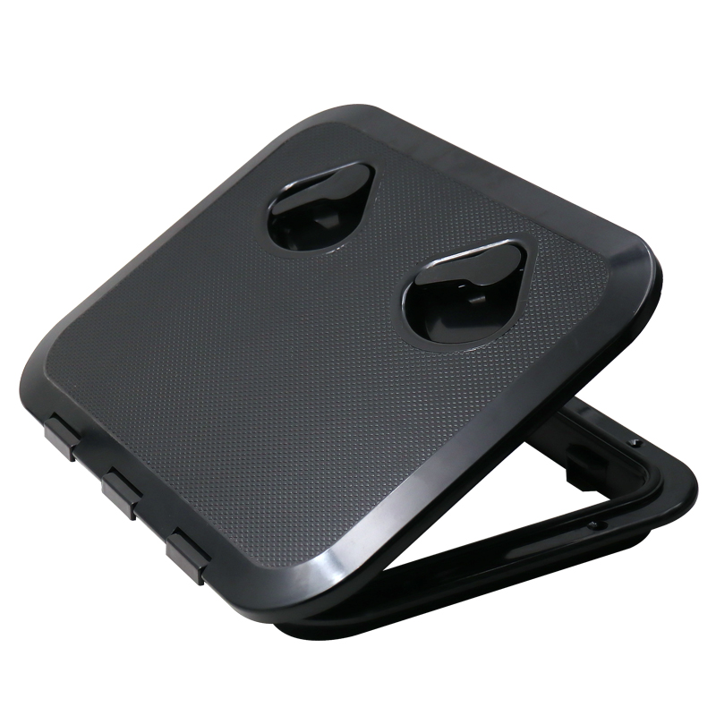 315*440mm ABS Plastic Anti Aging Ultraviolet Black Deck Marine Hatch Deck Access Hatch Boat Hatches Inspection Yacht Cover RV