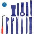 12 pçs kit de ferramentas de remoção de guarnição de áudio do veículo interior montagem desmontagem ferramentas carro traço rádio áudio instalador removedor painel