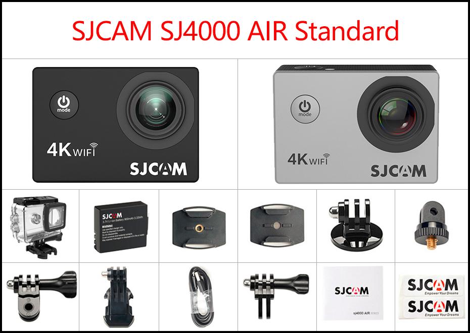 "SJCAM SJ4000 Cámara de Acción Full HD 4K 30FPS WIFI 2,0 ""Pantalla Mini casco impermeable deportes DV Cámara 1"