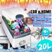 5-65 градусов 20л автомобильный холодильник Компрессор DC 12 V/24 V Автомобильный холодильник морозильник охладитель грелка для автомобиля зима на открытом воздухе