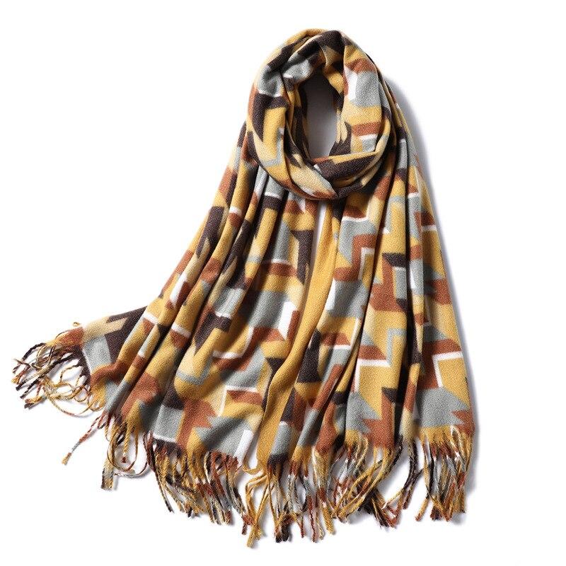 Winter Scarf Women Thick Warm Shawls And Wraps Large Soft Neck Scarves Cashmere Blanket Scarfs Lady Pashmina Echarpe 2019 New