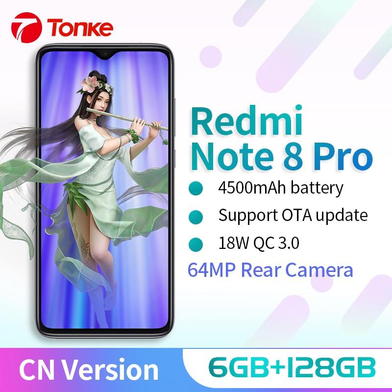 Xiaomi Redmi Note 8 Pro 6GB 128GB MTK Heilo G90T Mobile Phone Quad Cameras Smartphone 64MP NFC 18W Quick Charger CN Version