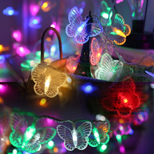 Party Decorations Butterfly String Lights Fairy LED String Garland Lamp Chain Outdoor Lighting Christmas Holiday New Year Diwali