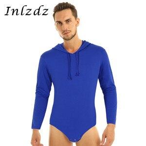 Image 1 - Мужское нижнее белье, сексуальное боди с длинным рукавом, толстовка с капюшоном, боди, комбинезон, пижамы, подгузники для влюбленных, возраст игроков, сексуальный костюм