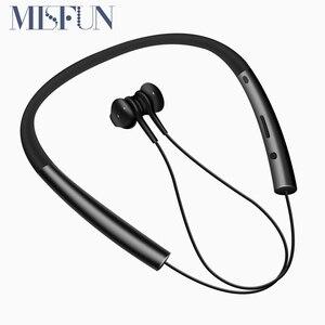 Image 1 - Écouteurs Bluetooth, écouteurs mains libres sportifs, écouteurs sans fil, casque magnétique avec Microphone pour téléphones portables Xiaomi
