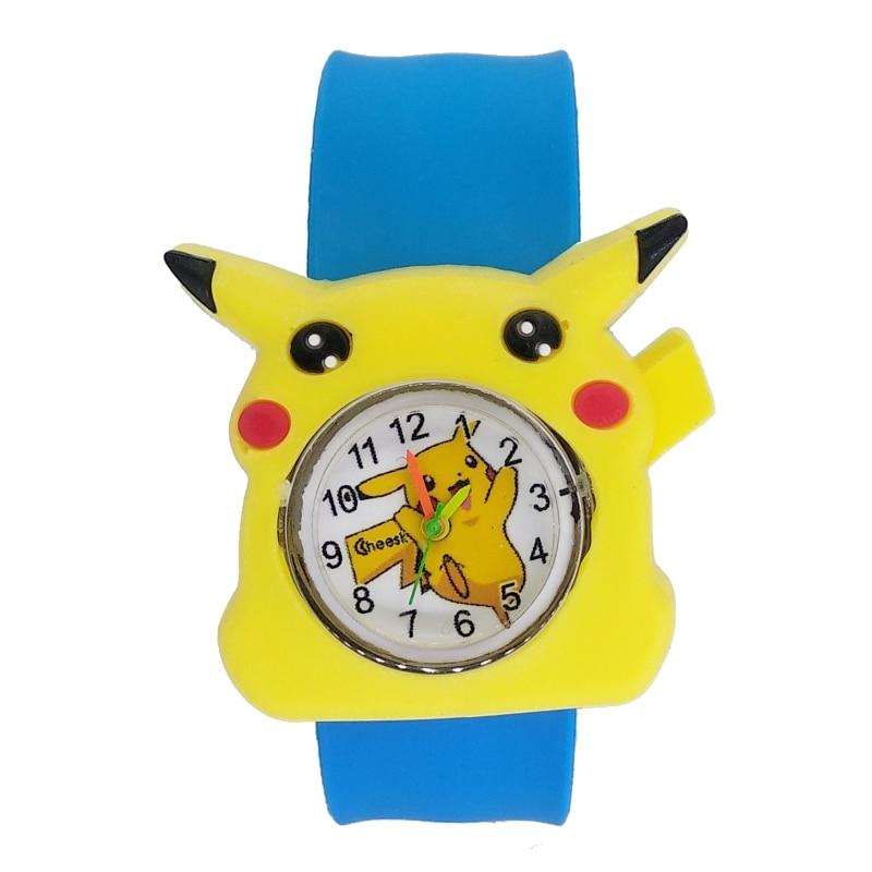 Colorful cute Kids Slap Watches Children Cartoon Pikachu Watch Silicone Wristwatch for boys girls Baby Christmas Gift Kid Clock