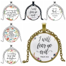 Creative Jewelry Spanish Bible Lords Prayer Pattern Hypoallergenic European Wind Boys and Girls Pendant Necklace