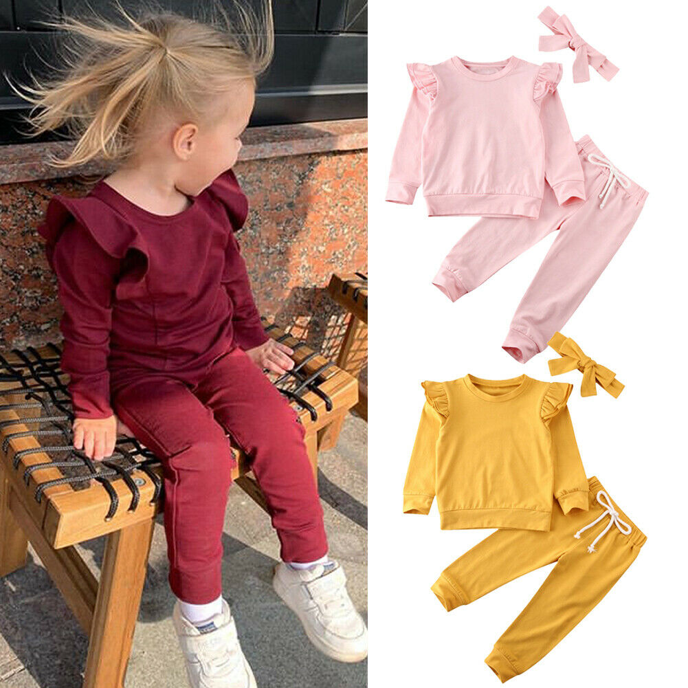 Newborn Kids Baby Girl Infant Clothes T-shirt Top PP Pants Outfit Set Tracksuit