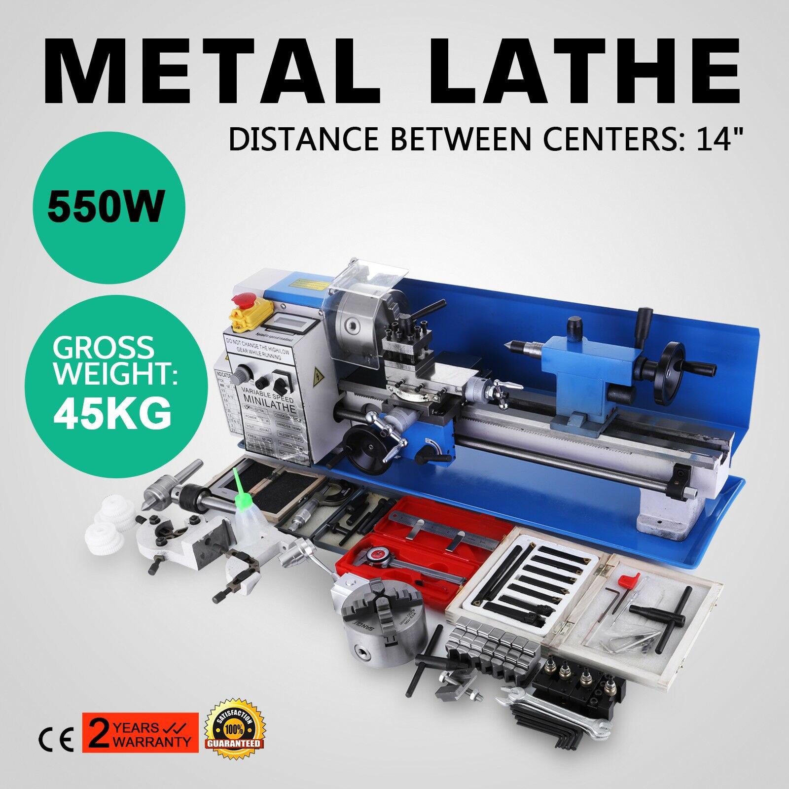 14 Inch  Small Mini Metal Lathe Machine Shipping From Europe Warehouse