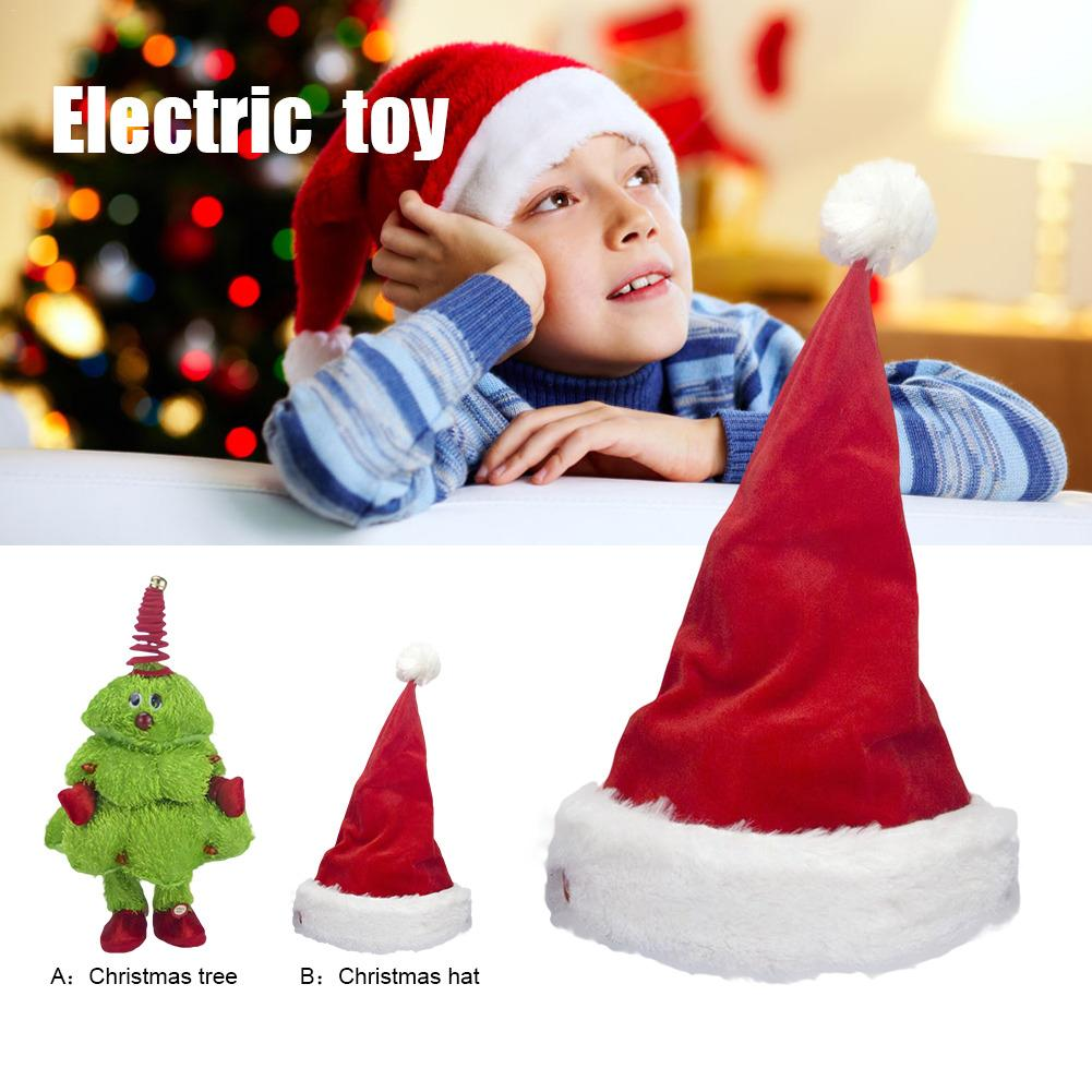 Singing And Dancing Christmas Tree/Moving Christmas Hat Electric Children's Toy Kids Toys Christmas Present