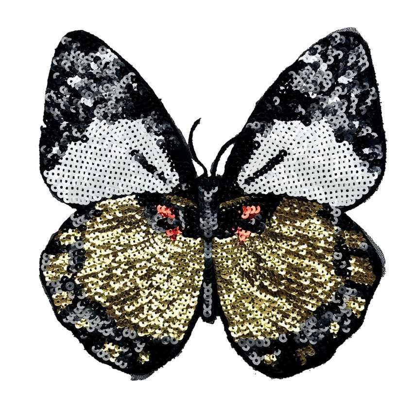 Baru Bunga Butterfly Patch untuk Pakaian Besi Patch Bordir Bordiran Besi Pada Patch DIY Jahit Aksesoris Baju Lencana