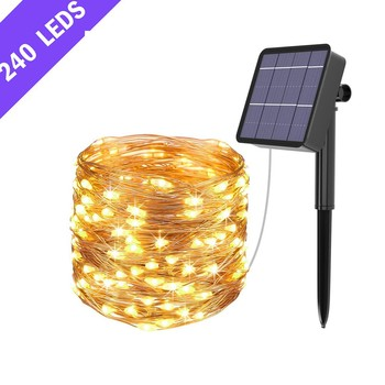 26 meters with 240LED garden courtyard decoration solar light lamp energy saving and environmental protection подсветка 22*