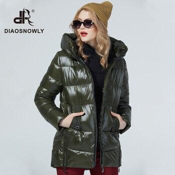 Diaosnowly 2020 new winter jacket woman outwear coat hooded jackets female fashion warm coat medium length Parka and Coat for women winter clothing jackets and coats woman parkas цена 2017