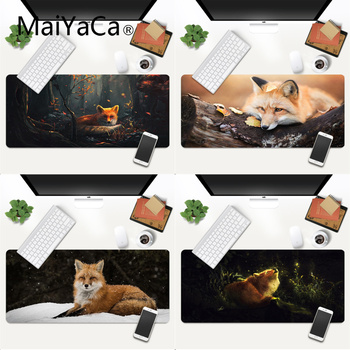 MaiYaCa Your Own Mats Fox Rubber Mouse Durable Desktop Mousepad Gaming Mouse Pad Large Deak Mat 700x300mm for overwatch/cs go
