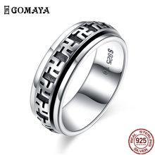 100% оригинальные кольца gomaya из искусственного серебра эксклюзивные