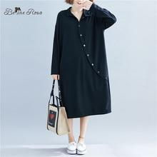 BelineRosa Elegant Office Ladies Dresses Autumn Winter Basic Women Pure Color Plus Size Daily Dress TTFS0002