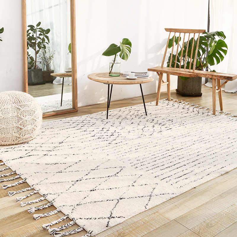 Indien Handgemachte Teppiche Wohnzimmer Turkei Nordic Hause Schlafzimmer Teppich Kelim Teppich Boden Matte Studie Zimmer Marokko Teppich Mit Quaste Teppich Aliexpress
