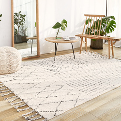 India Handmade Carpets Livingroom Turkey Nordic Home Bedroom Carpet Kilim Rug Floor Mat Study Room Morocco Carpet With Tassel