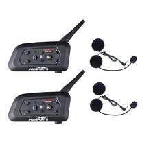 2019 Fodsports Metalen Clip + 2 Pcs V6 Pro Bt Interphone 1200M Motorfiets Bluetooth Helm Intercom Headset Voor 6 rider 850Mah