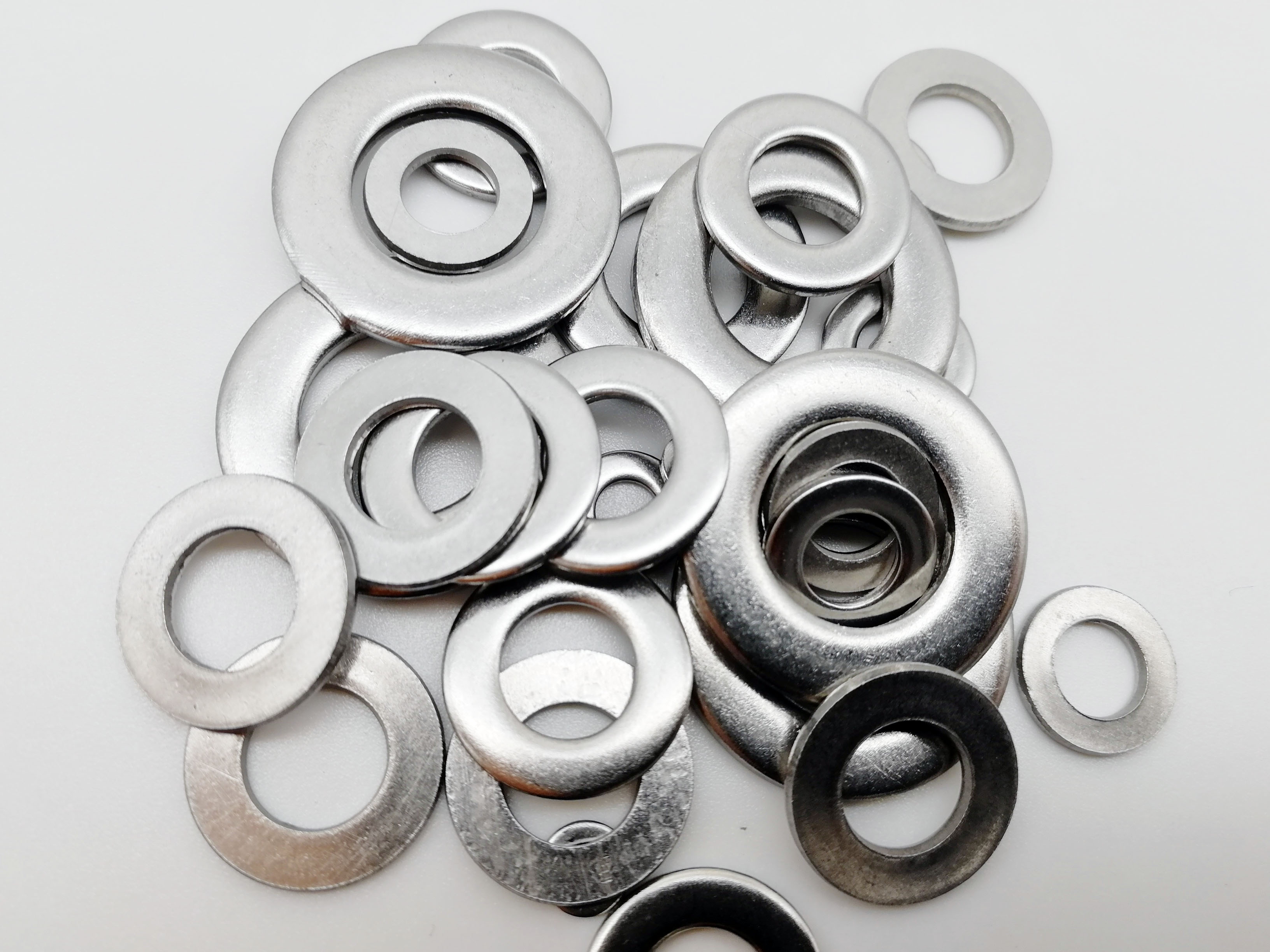 For Car 580PCS Silver Flat Washers Assortment Kit M2 M2.5 M3 M4 M5 M6 M8 M10 M12