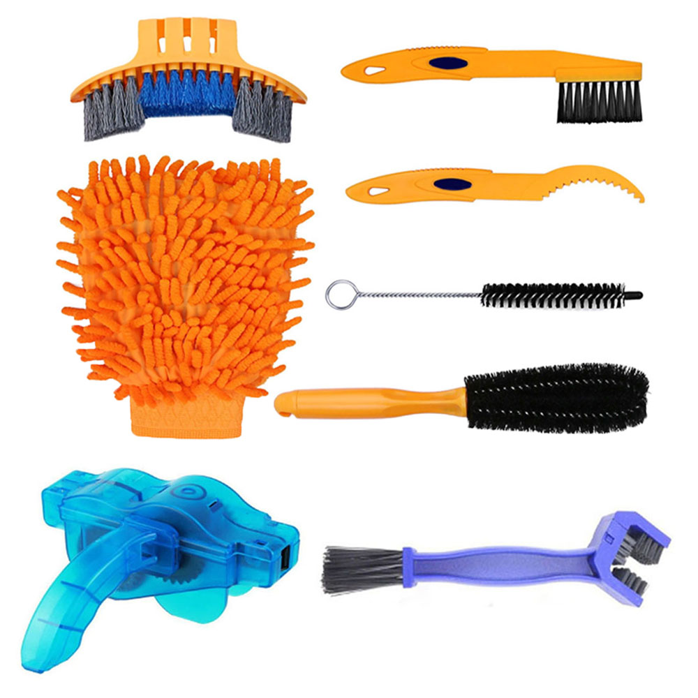 Bicycle Chain Cleaning Tool Kit Mountain Bike Chain Cleaner Scrubber Brushes Wash Set Cycling Chain Repair Protector Accessories
